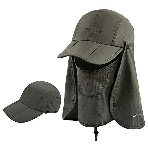 icolor Sun Cap Fishing Hats Outdoor 360°Sun...