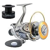 Yoshikawa Baitfeeder Spinning Fishing Reel...
