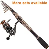 PLUSINNO Fishing Rod and Reel Combos Carbon...