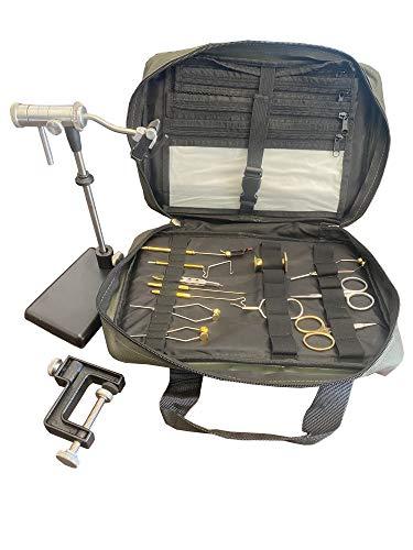 Zephr Travel Fly Tying Kit w/Travel Bag for...