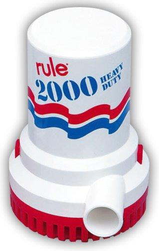 Rule 10, Bilge Pump, 2000 GPH, Non-Automatic,...