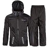 SWISSWELL Hooded Rain Suit for Kids Black...