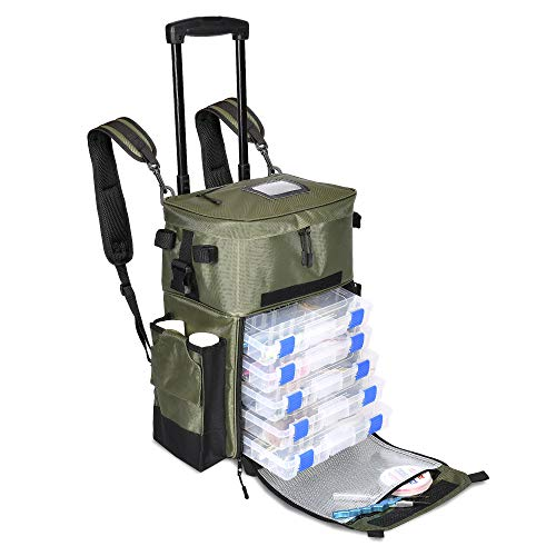 X-Large 'Recon' Rolling Fishing Backpack,...