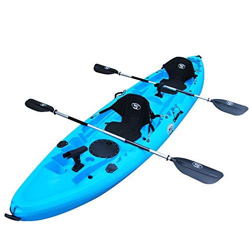 BKC TK219 12.2' Tandem Fishing Kayak W/Soft...