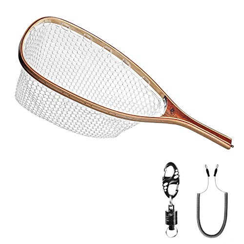 SF Fly Fishing Landing Soft Rubber Mesh Trout...