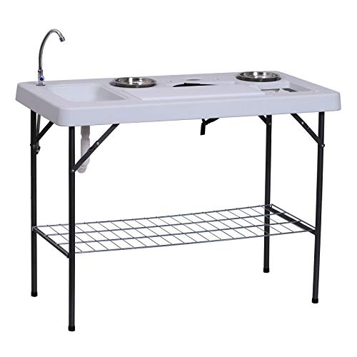 Outsunny 50' L Folding Fish Cleaning Table...