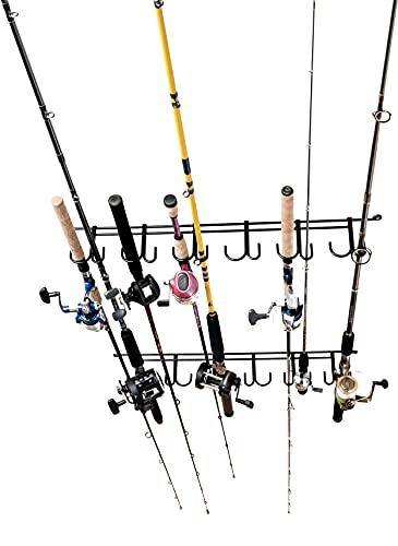 Rack'Em 7009 Overhead 12-Rod Fishing Rod Rack