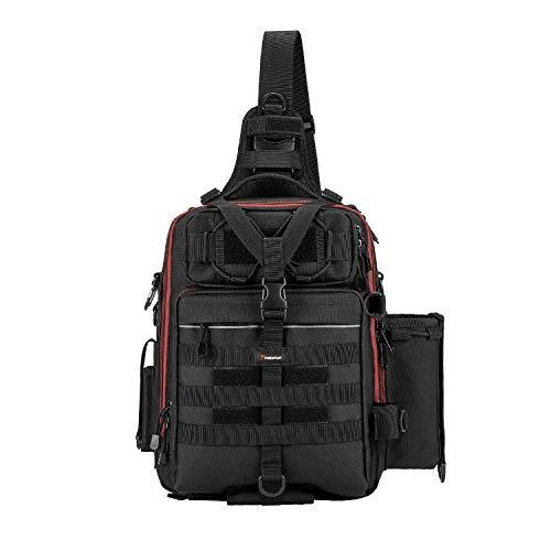 Piscifun Water-Resistant Outdoor Tackle Bag...