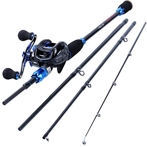 Sougayilang Fishing Reel and Rod Combos,24-Ton...