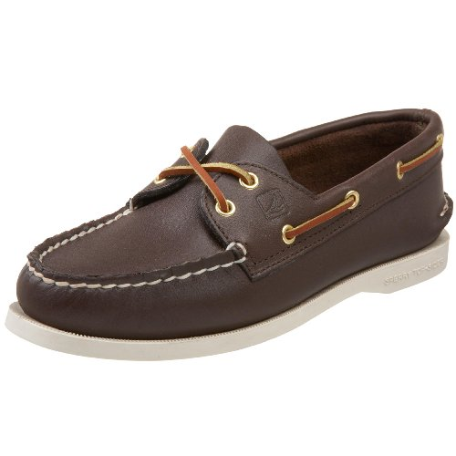 Sperry Womens A/O 2-Eye Boat Shoe, Classic Brown,...