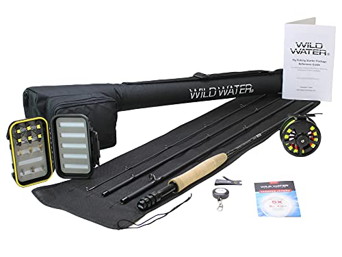 Wild Water Fly Fishing 9 Foot, 4-Piece, 5/6...