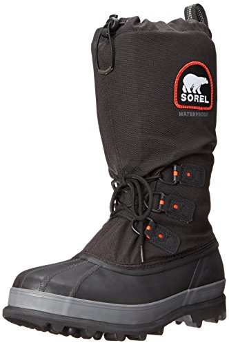 Sorel Men's Bear Extreme Snow Boot,Black/Red...