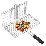 WolfWise Portable Grilling Basket BBQ...