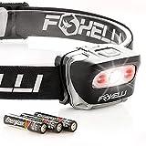 Foxelli LED Headlamp Flashlight - for Adults...