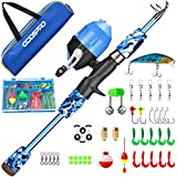 ODDSPRO Kids Fishing Pole, Portable...
