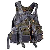 Bassdash Strap Fishing Vest Adjustable for...