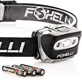 Foxelli Headlamp Flashlight - 165 Lumen, 3 x...