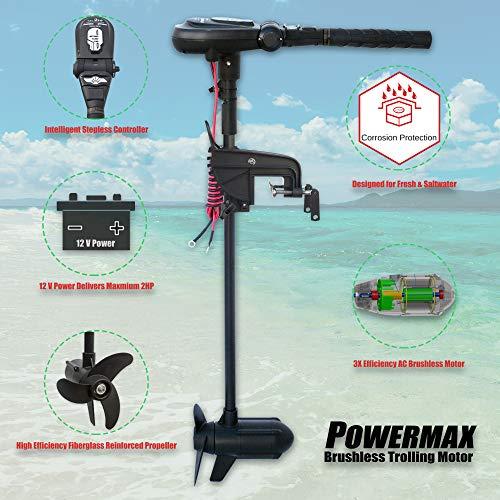 SEAMAX 12V PowerMax 2HP Brushless Trolling...