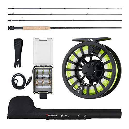 Piscifun Fly Fishing Rod and Reel Combo Fly...