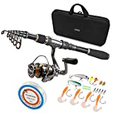 PLUSINNO Telescopic Fishing Rod and Reel...