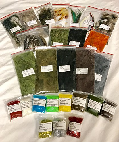 Fly Tying Material Feather and Dubbing...