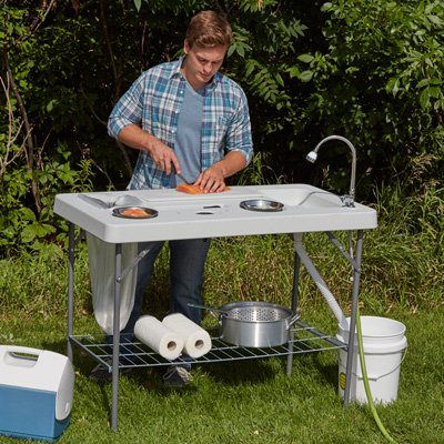 Kotula's Deluxe Fish Cleaning Camp Table with...