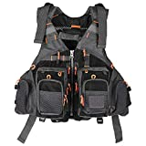 Lixada Fly Fishing Vest-Fishing Safety Life...