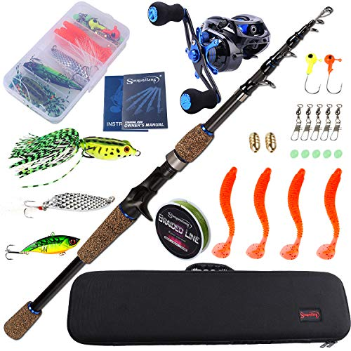 Sougayilang Fishing Combos Full Kits with Carrier...