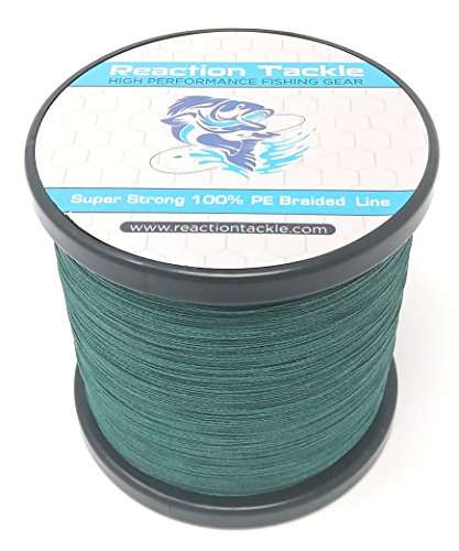 Reaction Tackle Braided Fishing Line Moss...