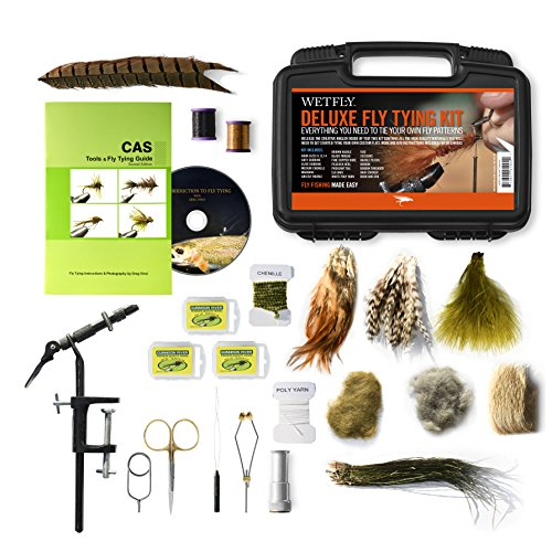 WETFLY Deluxe Fly Tying Kit with Book and...