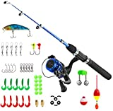 PLUSINNO Kids Fishing Pole,Light and Portable...