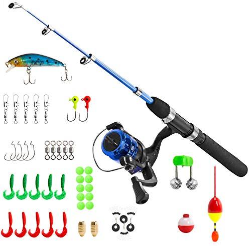 PLUSINNO Kids Fishing Pole,Light and Portable...