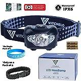 VITCHELO V800 Headlamp Flashlight with White...