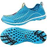 ALEADER Women's Mesh Slip On Water Shoes Blue...