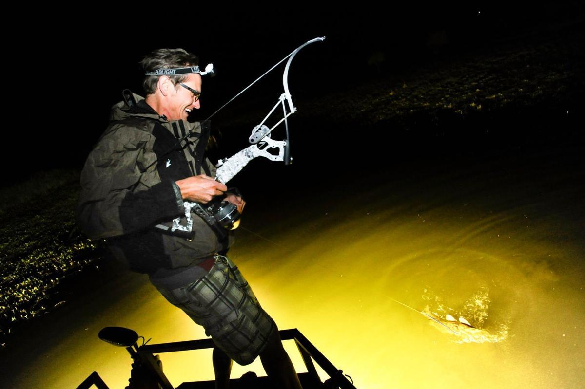 Bowfishing At Night